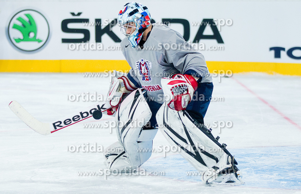 Andrej Hocevar during practice session of Slovenian National Ice Hockey team first time in Arena Stozice before 2012 IIHF World Championship DIV I Group A in Slovenia, on April 13, 2012, in Arena Stozice, Ljubljana, Slovenia. (Photo by Vid Ponikvar / Sportida.com)