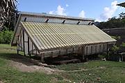 Cacao bean drying shelter. Toledo Cacao Growers' Association (TCGA), San Antonio, Toledo, Belize. January 28, 2013.