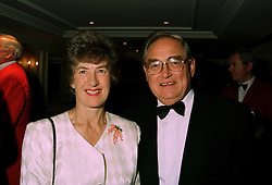 MR & MRS EDDIE GEORGE, he is Governor of The Bank of England, at a dinner in London on 10th July 1997.MAE 16