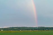 Goshen, New York -Farm scenes after a summer thunderstorm on July 25, 2016.