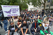 Anti-racism protesters march towards Hyde Park in London on Sunday, Aug 30, 2020. (VXP Photo/ Vudi Xhymshiti)