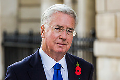 2017-11-01 UK Defence Secretary Sir Michael Fallon pictured in Whitehall