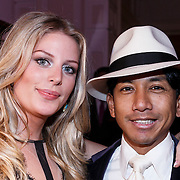 NLD/Amsterdam/20131111 - Beau Monde Awards 2013, Wibi Soerjadi en partner Celine van Riemsdijk