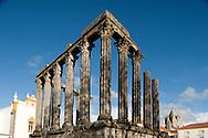 Roman Temple (1st century), on Largo Condo Vila Flor. Évora, Alentejo, Portugal © Rudolf Abraham