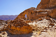 The Arch, Timna Valley, Arava, Israel. The Timna Natural and Historic park is located in the southwestern Arava, some 30 km. north of the Gulf of Eilat.