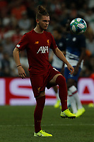 ISTANBUL, TURKEY - AUGUST 14: Harvey Elliott of Liverpool in action during the warm-up ahead of the UEFA Super Cup match between Liverpool and Chelsea at Besiktas Park on August 14, 2019 in Istanbul, Turkey. (Photo by MB Media/Getty Images)
