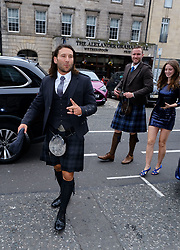 Edinburgh International Film Festival 2019<br /> <br /> Robert The Bruce (World Premiere) after[arty<br /> <br /> Pictured: Zach Mcgowan, Diarmaid Murtagh and Mhairi Calvary arrive for the party<br /> <br /> Alex Todd | Edinburgh Elite media