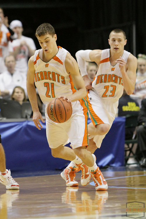 27 March 2010: Wheeler's Peter Todorvic as the Park Tudor Panthers played the Wheeler Bearcats in the IHSAA Boys Basketball State Championship game in Indianapolis.