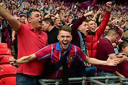 May 27, 2019 - London, England, United Kingdom - Aston Villa supporters during the Sky Bet Championship match between Aston Villa and Derby County at Wembley Stadium, London on Monday 27th May 2019. (Credit: Jon Hobley | MI News) (Credit Image: © Mi News/NurPhoto via ZUMA Press)