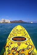 Surfboard, Waikiki Beach, Waikiki, Oahu, Hawaii, USA<br />