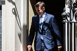 London, UK. 21 May, 2019. Jeremy Hunt MP, Secretary of State for Foreign and Commonwealth Affairs, leaves 10 Downing Street following a Cabinet meeting.
