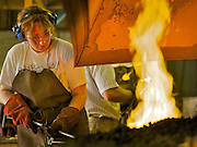 England,Chicester,West Sussex. West Dean College,Summer school blacksmith course.<br /> Photography by Richard Olivier©2005<br /> Tel 0044 07947 884 517<br /> www.linkphotographers.com