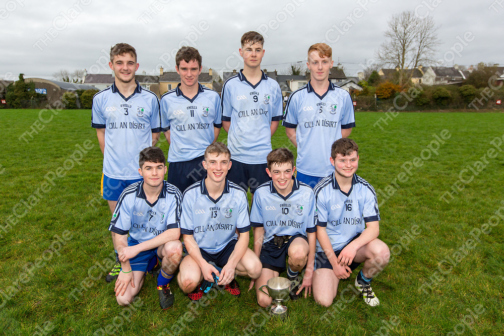Joint Minor and U21 Medal winners:<br /> Back Row - Stephen Sheehan, Seamus Casey, Luke McGrath and Ryan Casey<br /> Front Row - Aaron Slobody, Diarmuid O'Donnell, Mikey Donnellan, Dylan Bull