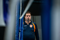 Referee Wouter de Baar in action during the first league match in the corona lockdown between Talentteam Papendal vs. Vocasa on January 13, 2021 in Ede.