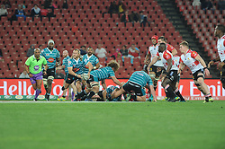 South Africa - Johannesburg, Emirates Airlines Park. 24/08/18  Currie Cup. Lions vs Griquas. Christiaan Meyer about to feed his backline. <br /> 2nd half.  Picture: Karen Sandison/African News Agency(ANA)