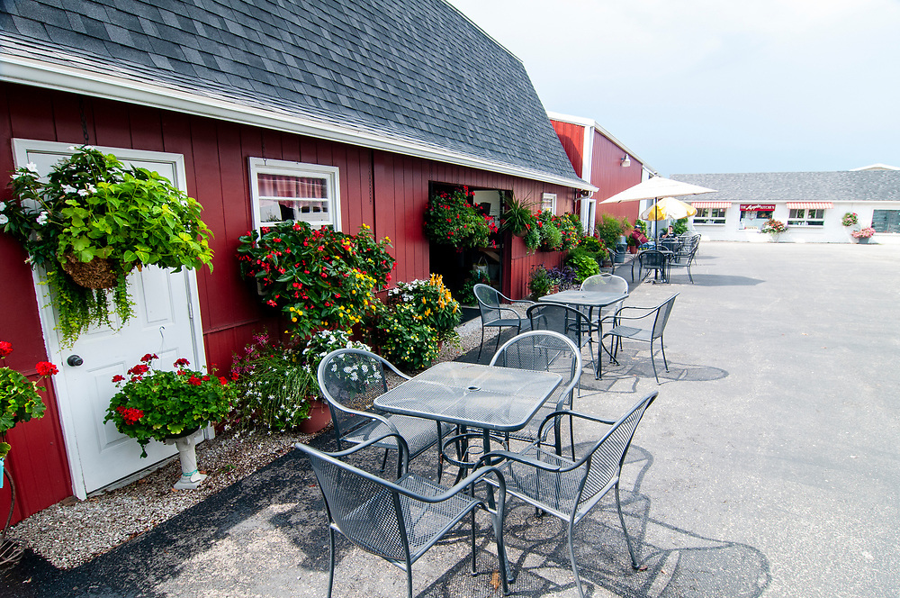 Outdoor seating at Jackson's Orchard & Nursery in Bowling Green, Kentucky on Wednesday, August 16, 2017. Copyright 2017 Jason Barnette