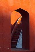 The Jantar Mantar observatory. A collection of thirteen architectural astronomy instruments built by Maharaja Jai Singh II of Jaipur.