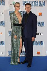 Cara Delevingne and Dane DeHaan attending Valerian premiere at Cite du Cinema in Paris, France on July 25, 2017. Photo by Jerome Domine/ABACAPRESS.COM