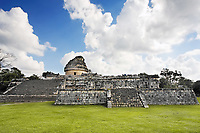 el caracol Chichen Itza in the yucatan was a Maya city and one of the greatest religious center and remains today one of the most visited archaeological sites