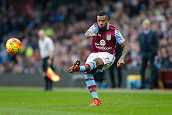 Leandro Bacuna of Aston Villa in action - Mandatory byline: Rogan Thomson/JMP - 13/12/2015 - FOOTBALL - Villa Park Stadium - Birmingham, England - Aston Villa v Arsenal - Barclays Premier League.