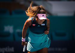 March 22, 2019 - Miami, Florida, U.S. - NAOMI OSAKA of Japan in action during the second-round at the 2019 Miami Open WTA Premier Mandatory tennis tournament. (Credit Image: © AFP7 via ZUMA Wire)