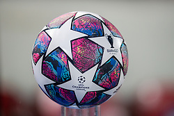 LIVERPOOL, ENGLAND - Wednesday, March 11, 2020: The official match ball pictured before the UEFA Champions League Round of 16 2nd Leg match between Liverpool FC and Club Atlético de Madrid at Anfield. (Pic by David Rawcliffe/Propaganda)