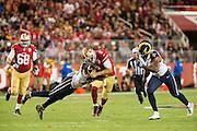Los Angeles Rams outside linebacker Mark Barron (26) tackles San Francisco 49ers quarterback Blaine Gabbert (2) at Levi's Stadium in Santa Clara, Calif., on September 12, 2016. (Stan Olszewski/Special to S.F. Examiner)