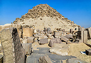 Abusir an archaeological site which formed part of the necropolis of ancient Memphis consisting of several pyramids from the 5th Dynasty.