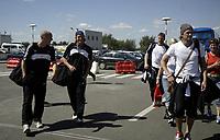 Players of FC Rosenborg after arrival at Bucuresti airport<br /> 09.08.2005<br /> Photo: Aleksandar Djorovic