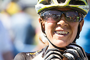 Sally Bigham of Team Meerendal after stage 5 of the 2014 Absa Cape Epic Mountain Bike stage race held from The Oak Estate in Greyton to Oak Valley Wine Estate in Elgin, South Africa on the 28 March 2014<br /> <br /> Photo by Greg Beadle/Cape Epic/SPORTZPICS