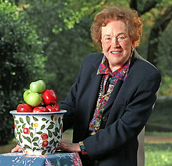 Legendary television chef Julia Child has been teaching American to cook for years and is still at it as she celebrates her 90th birthday. She is shown her in Oct 18, 1999. Julia Child, the grande dame of U.S. television cooking shows and books, she died in her sleep on Thursday at her Santa Barbara, California, home, on August 13, 2004. Photo by J. Kyle Keener/KRT/ABACA.  | 64094_01