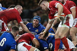 February 1, 2020, Cardiff (Wales, Italy: luca bigi captain of Italy after aver subito una punizione against during Wales vs Italy, Six Nations Rugby in Cardiff (Wales), Italy, February 01 2020 (Credit Image: © Massimiliano Carnabuci/IPA via ZUMA Press)