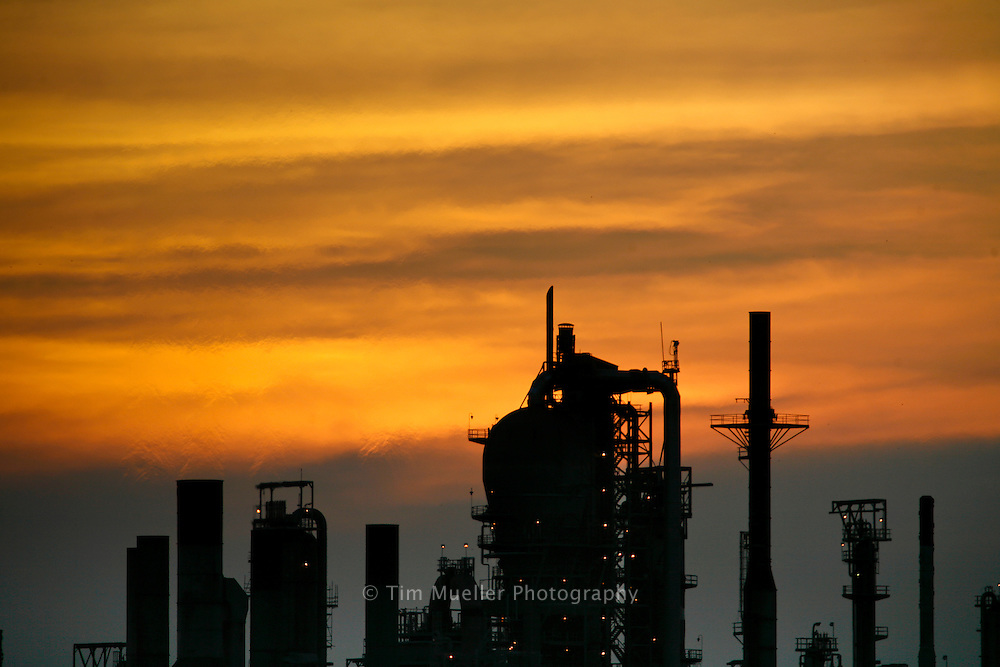A refinery along the Mississippi River in south Louisiana.
