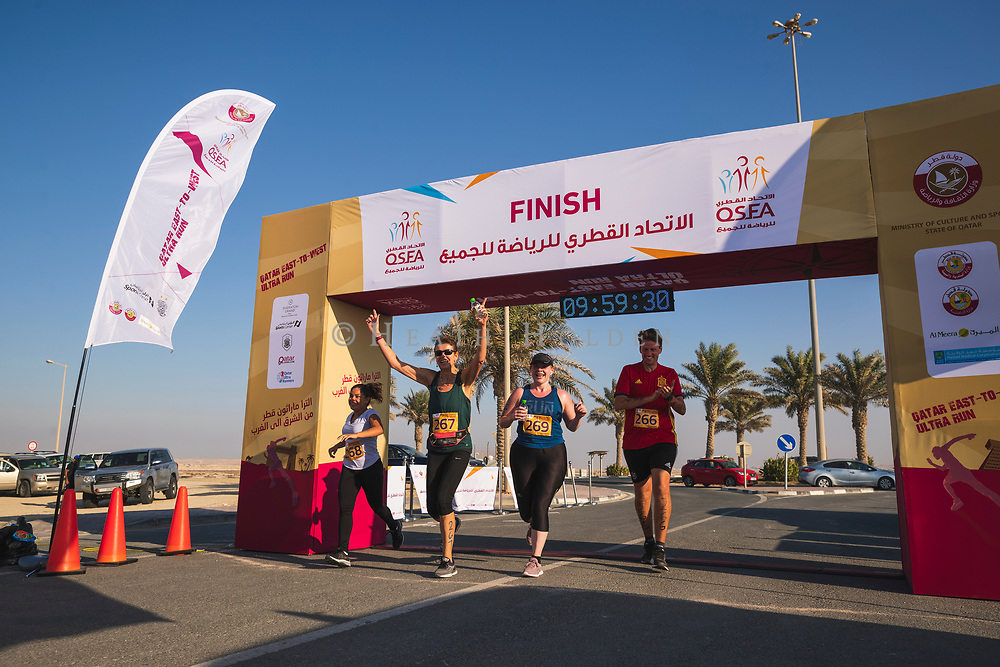 Qatar East West Ultra Marathon, 90km run from from Sheraton park to Dukhan beach.