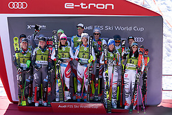March 15, 2019 - Andorra - Podium of the Alpine Team's race, Audi Fis Alpine Ski World Cup, Finals Round, on March 15, 2019 in Soldeu - El Tarter, Andorra (Credit Image: © AFP7 via ZUMA Wire)
