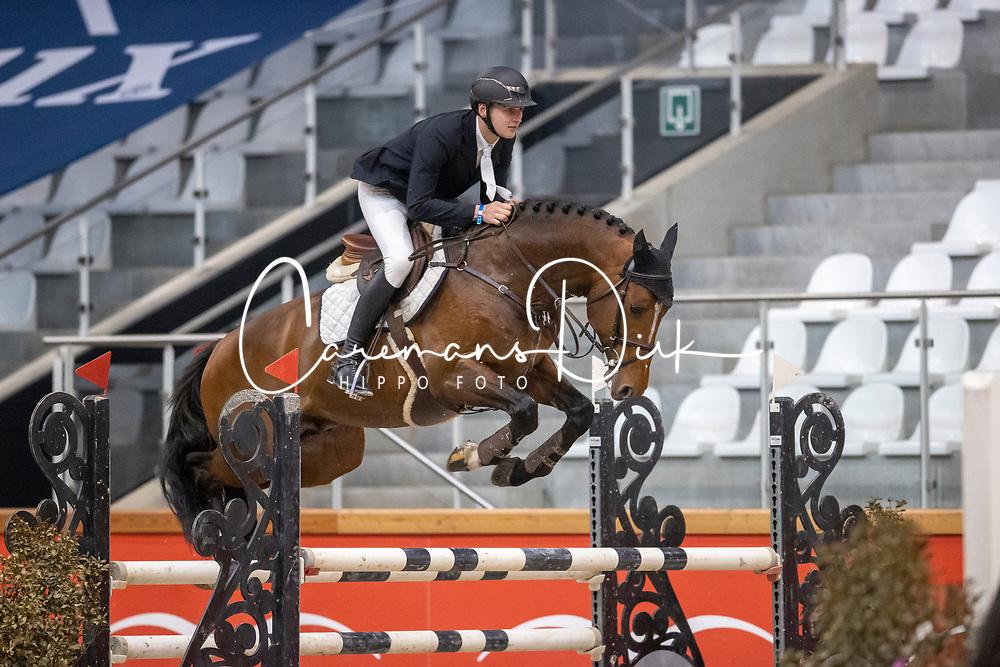 Vermandel Dave, BEL, Fides du Mas Garnier<br /> Pavo Hengsten competitie - Oudsbergen 2021<br /> © Hippo Foto - Dirk Caremans<br />  22/02/2021