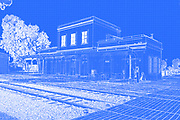 Digitally enhanced image of Israel, Tel Aviv, Neve Tzedek, Hatachana complex, a renovated Ottoman train station that was originally built to serve Jaffa