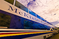 McKinley Explorer domed observation car, Alaska Railroad, Denali Park Depot, Alaska