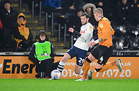 Preston North End's Tom Barkhuizen vies for possession with Hull City's Jordy de Wijs<br /> <br /> Photographer Chris Vaughan/CameraSport<br /> <br /> The EFL Sky Bet Championship - Hull City v Preston North End - Wednesday 27th November 2019 - KCOM Stadium - Hull<br /> <br /> World Copyright © 2019 CameraSport. All rights reserved. 43 Linden Ave. Countesthorpe. Leicester. England. LE8 5PG - Tel: +44 (0) 116 277 4147 - admin@camerasport.com - www.camerasport.com