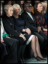 February 19, 2019 - London, London, United Kingdom - Image licensed to i-Images Picture Agency. 19/02/2019. London, United Kingdom. The Duchess of Cornwall in the front row  at the Bethany Williams show at London Fashion Week for Autumn/Winter 2019. (Credit Image: © Stephen Lock/i-Images via ZUMA Press)