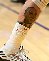 December 29, 2017 - Los Angeles, California, U.S. - LA Clippers guard Austin Rivers tattoo of Dr. Martin Luther King in the second half of a NBA Basketball game against the Los Angeles Lakers at Staples Center on Friday, Dec. 29, 2017 in Los Angeles.LA Clippers won 121-106. (Credit Image: © Keith Birmingham/SCNG via ZUMA Wire)