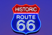 Image of Historic Route 66 Neon Sign in Arizona, American Southwest Icon by Randy Wells