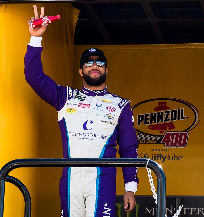 Mar 04, 2018  Las Vegas, NV, U.S.A. # 43 Bubba Wallace introduce to the fans before the Nascar Monster Energy series Pennzoil 400 at Las Vegas Motor Speedway Las Vegas, NV.  Thurman James / CSM