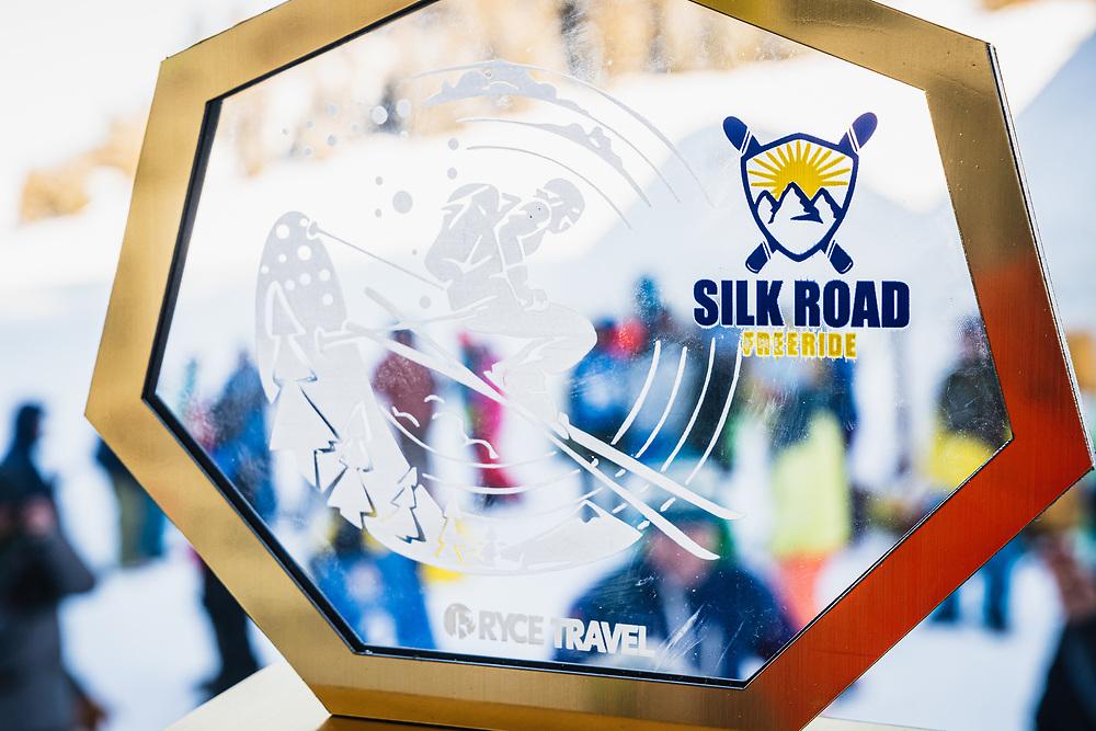 The winner's trophy's - Day 4 Silk Road Freeride Competition, Jyrgalan, KG.