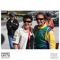 Amanda McLaren;Emerson Fittipaldi at the A1 Grand Prix of New Zealand at the Taupo Motorsport Park, Taupo, New Zealand.