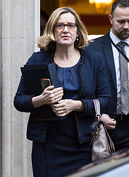 London, December 18 2017. Home Secretary Amber Rudd leaves 10 Downing Street following a meeting of Prime Minister Theresa May's 'Brexit Cabinet'. © Paul Davey