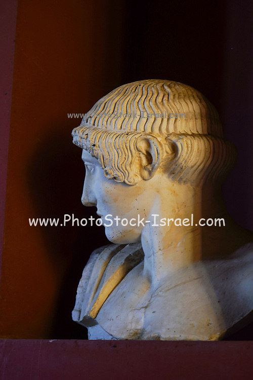 Greek Marble statue portrait of a young man