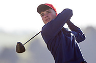 Mel Deasy (Lee Valley) on the 2nd tee during Round 2 of the Ulster Boys Championship at Donegal Golf Club, Murvagh, Donegal, Co Donegal on Thursday 25th April 2019.<br /> Picture:  Thos Caffrey / www.golffile.ie