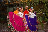 Performers dressed in Sinaloa costume, Dance Performance, Hotel El Fuerte, El Fuerte, Mexico