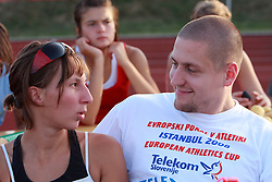 Matija Kranjc as a spectator with his girlfriend at 23rd International Meeting Brezice 2008, on September 10, 2008, Brezice, Slovenia.   (Photo by Vid Ponikvar / Sportal Images).